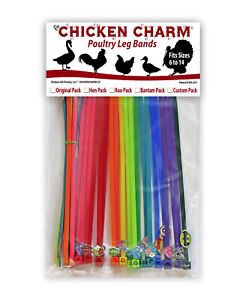 20 Chicken Charm Poultry Leg Bands fits Chickens geese ducks