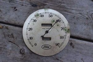 Old Vintage 1933 34 Ford Speedometer Face Plate Waltham 4 1 2 Ratrod With Arm