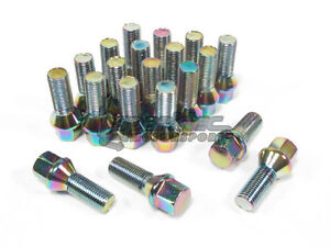 Nnr Steel Conical Wheel Lug Bolts Neo Chrome 35mm 14x1 5 20pcs Audi Volkswagen
