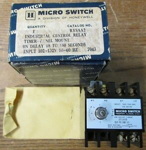 New Nos Micro Switch Rysaa2 On Delay Timer Industrial Control Relay 102 132v
