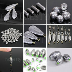 8 types Weights Lead Sinkers Pure Lead Making Sea Fishing Sinker Tackle