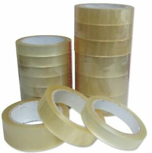 Clear Strong Tape Packaging Rolls Parcel Packing Sellotape 1 24mm X66m Celotape