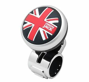 Union Jack Modern Power Handle Car Steering Wheel Spinner Accessory Slim Knob