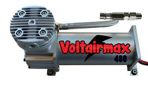 Air Compressor For Air Bag Suspension System 480 Pewter 200psi Max