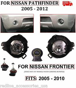 Replacement Fog Lights Brackets For 2005 2012 Nissan Pathfinder 05 10 Frontier