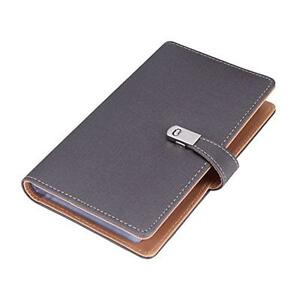Bluboon Name Card Book Holder Business Card Organizer For 240 Cards Grey New