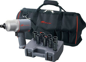 3 4 Drive Quiet Composite Impact Wrench Kit Ingersoll Rand 2145qimaxk