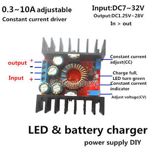 Dc 10a Cccv Constant Current Buck Converter Step down Module Led battery Charger