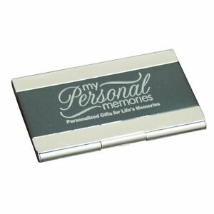 Engraved Black Business Card Case Holder Custom Personalized Business Gift