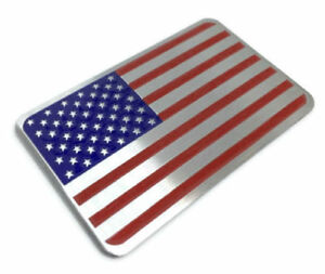 3d Metal American Flag Sticker Decal Emblem For Auto Car Bike And Motorcycle