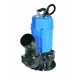 Nib Tsurumi Hs3 75s 3 Electric Submersible Trash Pump 3120gph 1 2hp