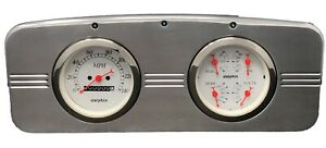 1935 1936 Chevy Car Quad Gauge Cluster White