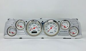 1964 1965 1966 Chevy Truck 6 Gauge Dash Cluster White