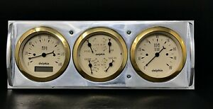 1941 1942 1943 1944 1945 1946 Chevy Truck 3 Gauge Dash Panel Quad Style Gl