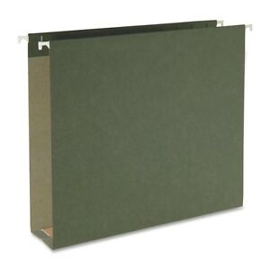 100 Recycled Hanging Box Bottom File 2 Letter Standard Green 25pk 65090