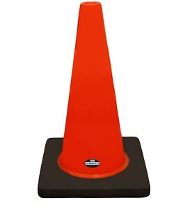 18 Rk Orange Safety Traffic Pvc Cones Black Base Plain cone18
