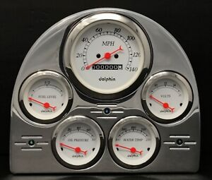 1952 1953 Ford Car Gauge Cluster White