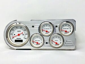 1948 1949 1950 Ford Truck 5 Gauge Dash Panel Insert White