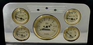 1937 1938 Ford Truck Gauge Cluster Gold