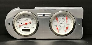 1948 1949 1950 Ford Truck Gauge Cluster Quad White