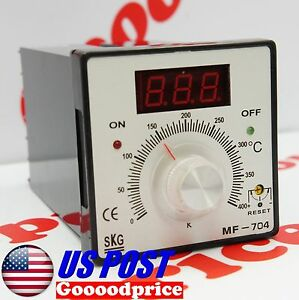 Skg Temperature Controller Mf 704 Display Relay 110 220vac Nib fast Shipping