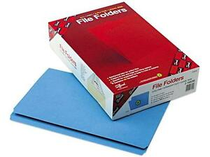 Brand New Lot Of 200 Smead 17010 Two Ply Legal File Folders Blue Straight Cut