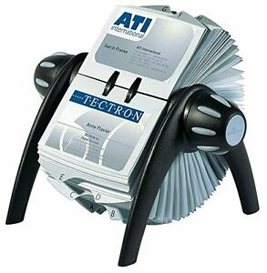 New Durable Visifix Flip Business Card File Black 241701 Free Shipping