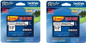 New Brother P Touch Tz Tape Tz 231 4 Value Pack Free Shipping