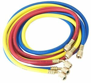 New Robinair 30060 1 4 Standard Hoses With Standard Fittings Set 60 Set Of 3