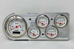 1948 1949 1950 Ford Truck 5 Gauge Dash Cluster Metric White