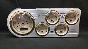 1948 1949 1950 Ford Truck 5 Gauge Dash Cluster Gold
