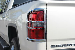 14 16 Gmc Sierra 1500 Premium Chrome Tailight Covers Warranty Tlgm102
