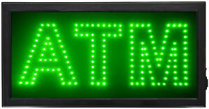 New Animated Led Flashing Light Atm Sign Shop Business Neon Signs