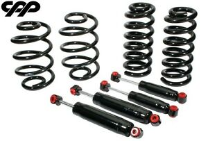 63 72 Chevy C10 Truck Front 3 Rear 4 Lowered Dropped Coil Springs Shock Kit