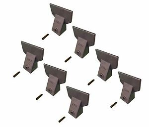 7 Hensley Style Backhoe Mini Excavator Bucket Flare Teeth W Pins X156f