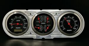 1963 1964 1965 Chevy Nova 3 Gauge Cluster Black