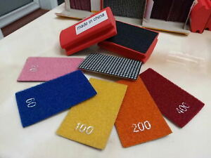 Diamond Hand Polishing Pad 4 Pieces Granite Marble Concrete Glass Stone Edge