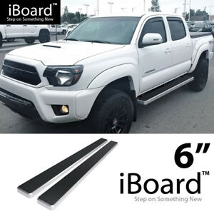 6 Silver Eboard Running Boards For 2005 2018 Toyota Tacoma Double Cab Pickup