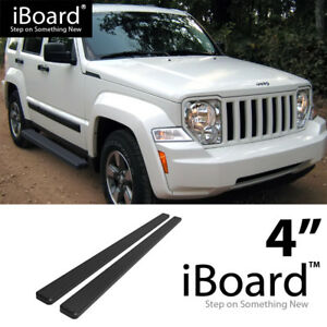 4 Black Eboard Running Boards For 2008 2013 Jeep Liberty 4 Door