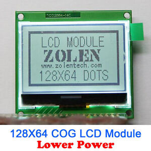 12864 128x64 Graphic cog Lcd Module Display Screen Lcm Build in St7565p 3v 5v