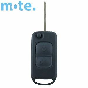 To Suit Mercedes benz 2 Button Remote Flip Key Blank Replacement Shell case