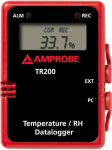 New Amprobe Tr200 a Temperature And Relative Humidity Data Logger