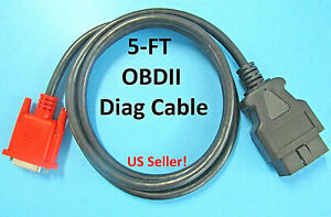 Obd2 Obdii Cable For Launch Crp 123 X Pro Creader Vii Crp 129 Viii Scan Tool