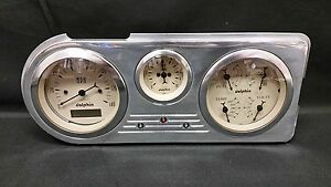 1948 1949 1950 Ford Truck 3 Gauge Cluster Tan