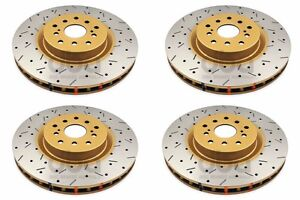 For 2004 2007 Subaru Sti Dba Front And Rear Drilled Slotted Brake Rotors 4000