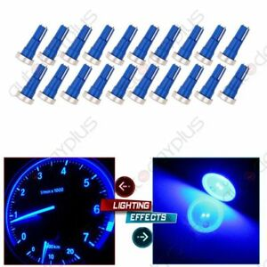 20x High Power Blue T5 74 Wedge Instrument Cluster Speedometer Led Light Bulbs