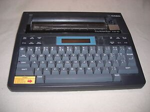 Vintage Casiowriter Personal Electric Typewriter Model Cw 10 Complete japan