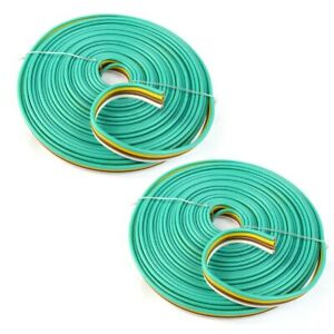 2 Pack 25 Feet 14 Awg 4 way Flat Trailer Wire Connection Harness Car Rv Boat