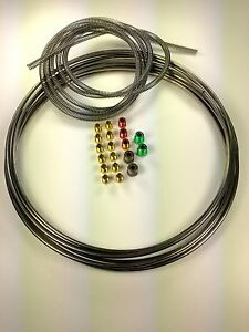 16 Ft Roll Of Stainless 3 16 Brake Line Kit Tube 8 Ft Of Armor 19 Fittings