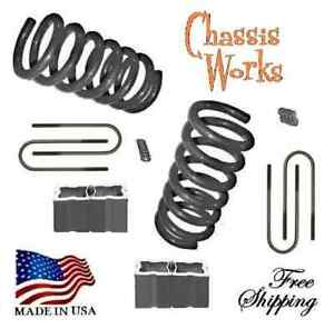 1995 5 2004 Tacoma 2wd 3 4 Drop Coils Lowering Springs Blocks Lowering Kit